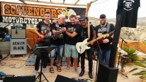 Streeters band summer end party Scavengers mc alicante spain