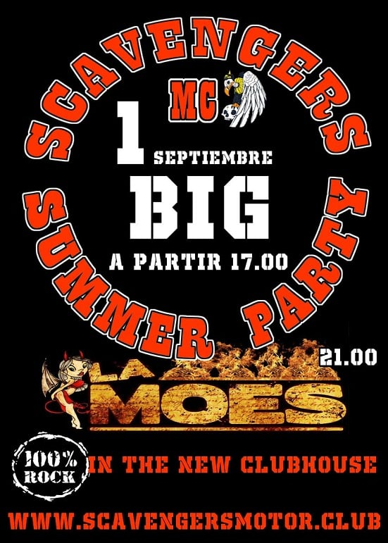 big end of summer party scavengers mc spain