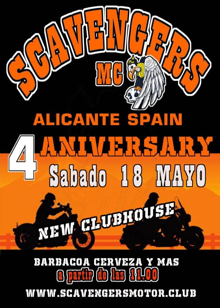 4 Anniversary ScavengersMC Alicante Spain