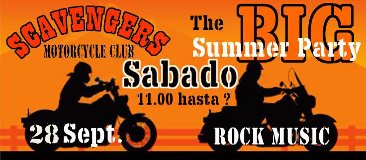 end of summer party scavengers mc alicante spain