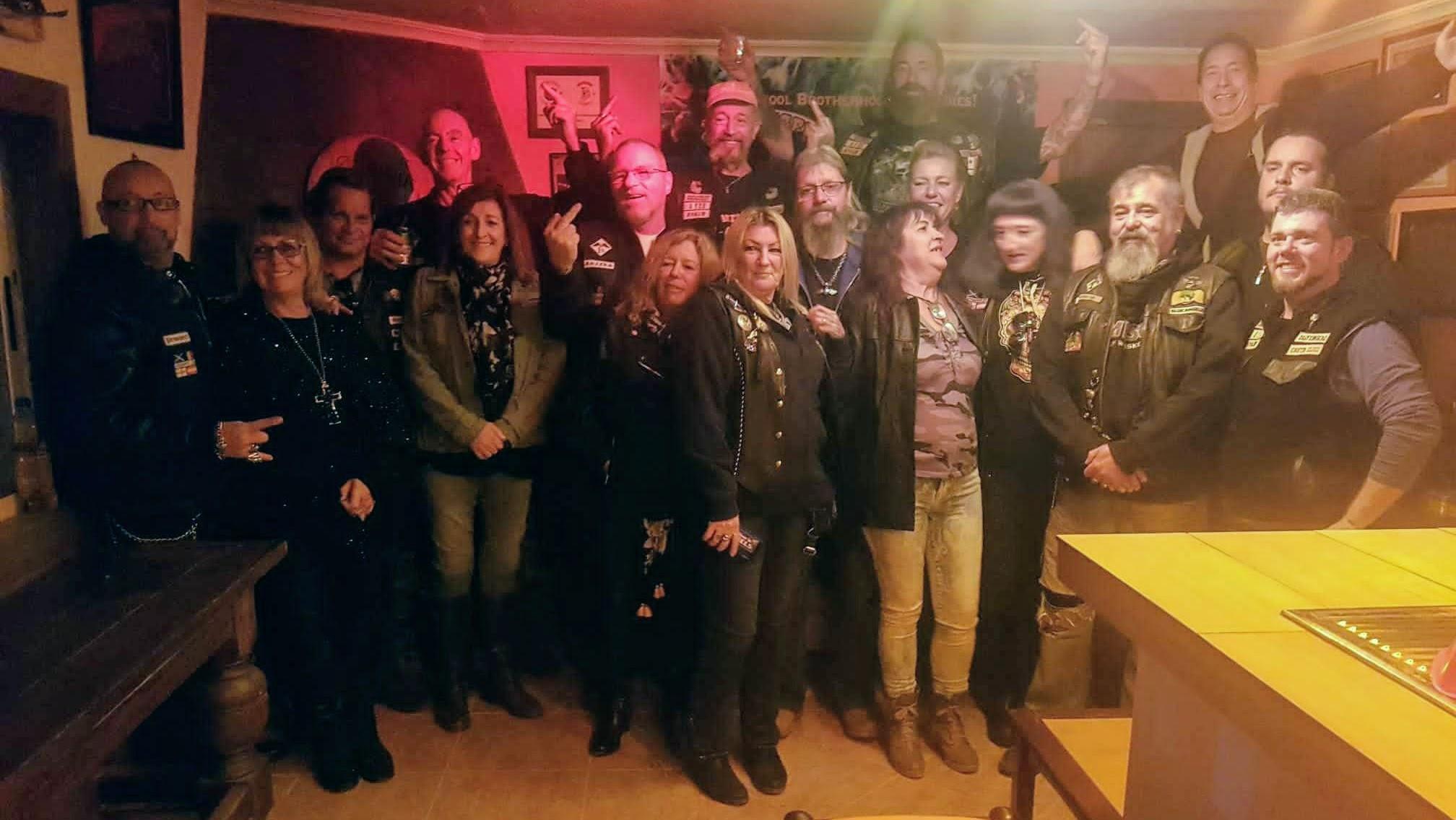 Blue Skulls mc visit Scavengers mc